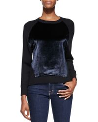 J Brand Erin Contrasting Front Pullover Sweater  - Lyst