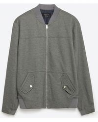 Zara   Piqué Jacket   Lyst