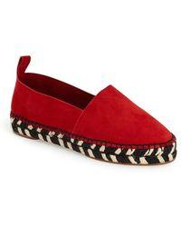 Proenza Schouler Platform Leather Espadrilles - Red