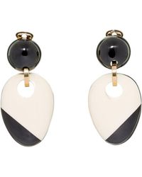 Marni | Clip-on Earring In Resin And Horn | Lyst