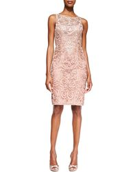Sue Wong Embroidered Lace Cocktail Dress - Lyst