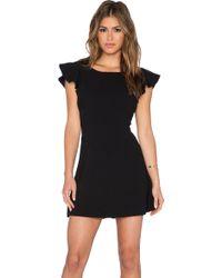 BCBGeneration Back Ruffle Dress black - Lyst