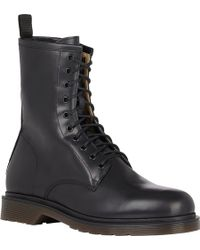 Barneys New York Black Side-zip Boots - Lyst