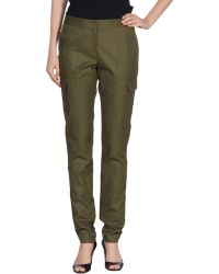 Prabal Gurung Green Casual Pants - Lyst