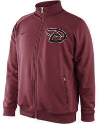Nike Men'S Arizona Diamondbacks Full-Zip Track Jacket - Red