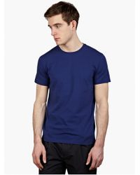 Jil Sander Men'S Blue Stretch-Cotton T-Shirt - Lyst