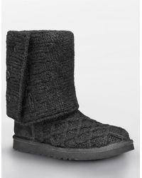 Ugg Lattice Button Knit Boots - Lyst
