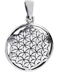 Aeravida | Linked Lilies Flower Of Life Sterling Silver Floral Pendant-26mm | Lyst
