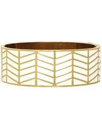House Of Harlow Enameled River Cuff White - Lyst