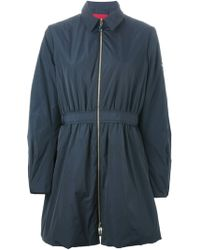 Moncler Gamme Rouge Blue Flared Coat - Lyst