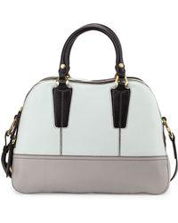 orYANY Leslie Colorblock Satchel Bag beige - Lyst