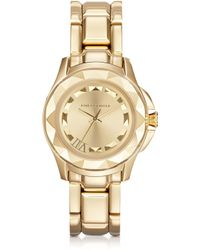 Karl Lagerfeld 36 Mm Gold Ion-plated Stainless Steel Unisex Watch - Lyst