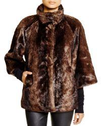 T Tahari - Chubby Faux Fur Coat - Lyst