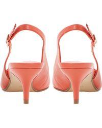 Dune Cathryn Slingback Court Shoes - Orange