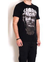 Neil Barrett Black Cotton T-Shirt With Print - Lyst