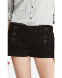 Express 2 Inch Stretch Cotton Sailor Shorts - Lyst