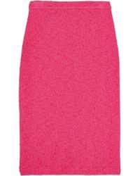 Moschino Cheap & Chic Stretch-Bouclé Pencil Skirt - Lyst