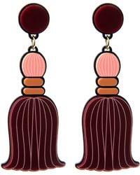 Yazbukey - Pompom Tassel Earring - Lyst