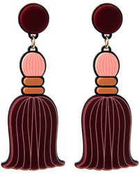 Yazbukey Pompom Tassel Earring - Purple