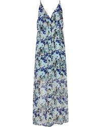 Vero Moda Long Dress blue - Lyst