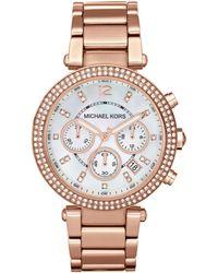 Michael Kors Parker Rose Gold-Tone Watch - Lyst