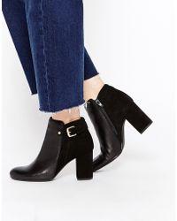 Oasis Block Heel Ankle Boots - Black
