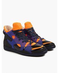 Maison Margiela 22 Men'S Scuba Neoprene And Leather Hi-Top Sneakers - Lyst
