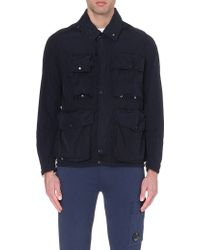 C P Company Hooded Shell Jacket - For Men, Navy Blue - Lyst