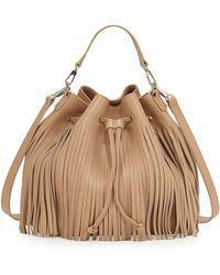 Posse | Kylie Large Leather Fringe Bucket Bag | Lyst