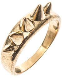 Alexander McQueen Gold Stud Ring - Lyst