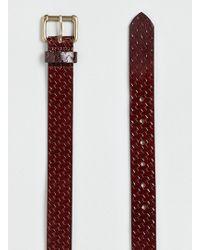 Topman Burgundy Leather Embossed Belt - Lyst