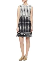 Tory Burch Savora Sleeveless Tweed Dress - Lyst