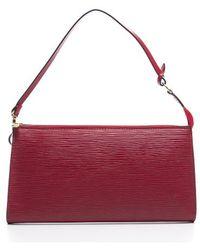 Louis Vuitton | Pre-owned Castilian Red Epi Pochette Accessories Bag | Lyst