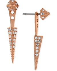 Vince Camuto - Rose Gold-tone Pavé Stud And Spike Ear Jackets - Lyst