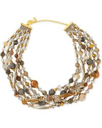 Jose & Maria Barrera Chunky Multi-Stone Necklace - Lyst