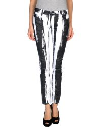 McQ by Alexander McQueen Black Denim Trousers - Lyst