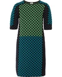 M Missoni Checked Woolblend Dress - Lyst