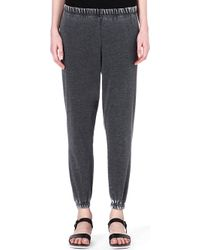 American Vintage Jersey Jogging Bottoms Carbon - Lyst