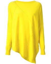 Isola Marras Over Size Asymmetric Sweater - Yellow