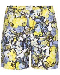 Erdem Emi Crepe Shorts - Yellow