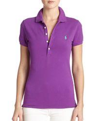 Polo Ralph Lauren Stretch Cotton Polo Shirt - Lyst