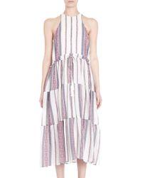 10 Crosby Derek Lam   Stripe Midi Dress   Lyst