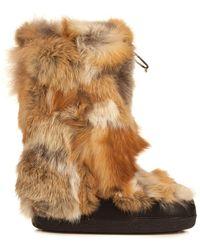 Chloé Fur Moon Boots - Lyst