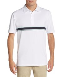 Dunning Striped Jersey Polo Shirt - White