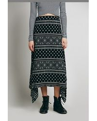 Free People Arabella Printed Maxi Skirt - Lyst