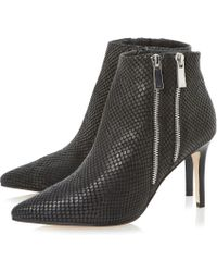 Dune Namedrop Leather Ankle Boots - Lyst