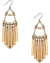 Lucky Brand Heritage Holiday Fringed Earrings - Metallic