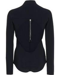 Josh Goot Black Long Sleeve Body Suit