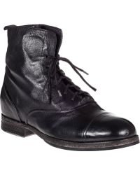 Fiorentini + Baker Gol Washed Go2 Ankle Boot Black Leather black - Lyst