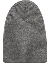 Helmut Lang Ribbed-knit Wool-blend Beanie - Grey